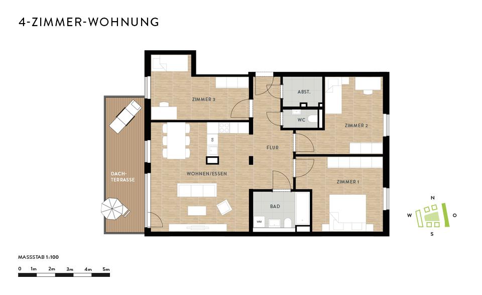 lichtdurchflutete 4-Zimmer-Wohnung in Dresden